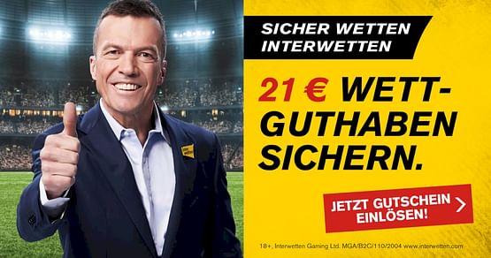 Bei Interwetten erlebst du Sportwetten zu Top-Quoten!iamstudent PLUSMitglieder bekommen statt unserem regulären 11€ Wettguthaben jetzt ganze 21€ aufs Konto gutgeschrieben!