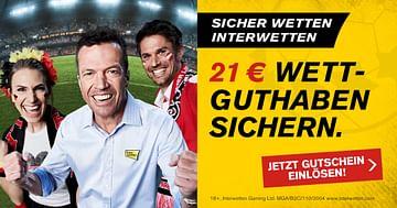 21€ statt 11€ Wettguthaben bei Interwetten!