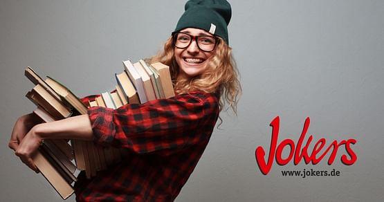 Für Bücherfreunde! BeiJokers erwarten dich tausende fantastische (Hör-)Bücher, die du dir mit unserem Jokers Studentenrabattvergünstigt schnappen kannst. Du erhältst-10% auf Bücher, Hörbücher und mehr* und kannst insgesamt bis zu 90% sparen!
