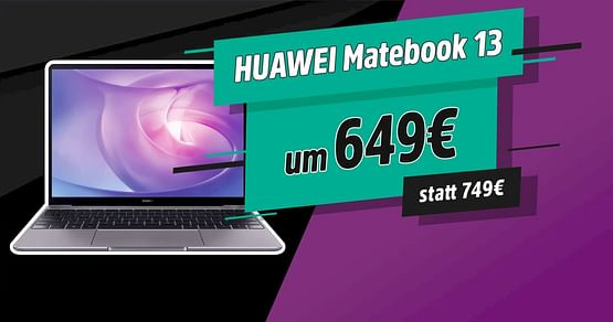 -100€ auf HUAWEI Matebook 13