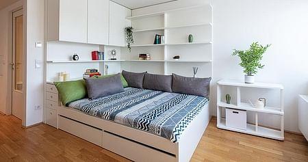 Sichere dir mit unserem MILESTONEStudentenrabattbeim Einzug in eines der modernen Studentenheime2 kostenlose Wohnheim-Packages für den perfekten Start in deinem neuen Heim und spare so insgesamt 158€!