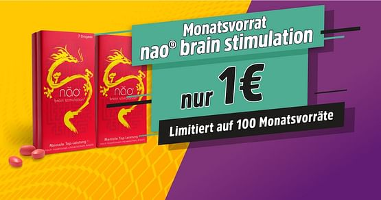 1 Monatsvorrat um nur 1€