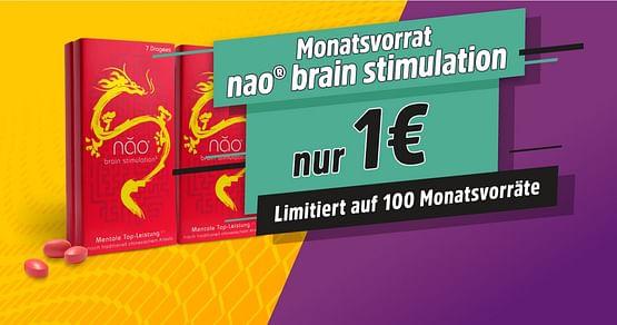 1 Monatsvorrat für nur 1€