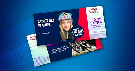 Du willst einen Top-Handytarif zum studentenfreundlichen Preis? Dann ab zu Red Bull MOBILE! Mit unserem Studentenrabatt erhältst du zu jedem Sprachtarif monatlich 10 GB Datenvolumen gratis dazu.