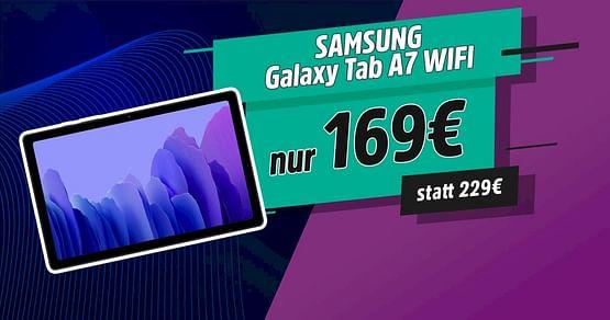 Hol dir bei unserer STUDENT WEEK die genialsten Studentenrabatte! Mit dem Samsung Gutschein bekommst du dasGalaxy Tab A7 WIFI jetzt 60€ günstiger undprofitierst von einem Tablet mit starker Performance. Gültig solange der Vorrat reicht.