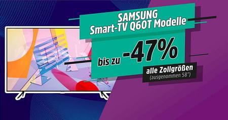 Hol dir bei unserer STUDENT WEEK die genialsten Studentenrabatte! Mit dem Samsung Gutschein sicherst du dir jetzt zwischen 280€ und1.200€ Nachlass auf ausgewählte Q60T Smart-TV-Modelle von Samsung. Gültig solange der Vorrat reicht.