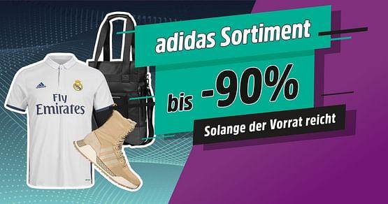 Bis -90% auf adidas Artikel