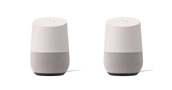 """Mehr als nur ein Smart Speaker! Mit unserem tink Studentenrabatt sicherst du dir -57% auf ein 2er-Pack des ausgefeilten Sprachassistenten """"Google Home"""", der dich dank einer umfassenden Datenbank in Sekundenschnelle mit News & Co. versorgt."""