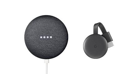 """Streaming auf Knopfdruck u.v.m.! Mit unserem tink Studentenrabatt sicherst du dir jetzt-41% auf die Smart Home Lösungen""""Google Nest Mini"""" (Lautsprecher mit Sprachsteuerung) &""""Google Chromecast"""" (Streaming Media Player)."""