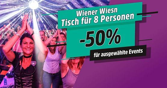 -50% auf Wiener Wiesn Tische